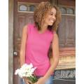 3584 LAT Ladies' Combed Ringspun V-Neck Sleeveless T-Shirt